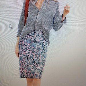 J.Crew  100% silk  Abigail Borg Skirt  - NWT